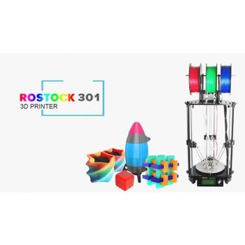 کیت پرینتر سه بعدی تک نازل Rostock 301 با قابلیت ترکیب رنگ