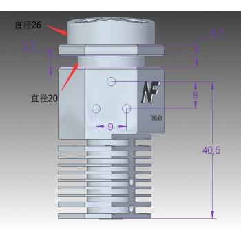 اکسترودر تک نازله با قابلیت ترکیب سه رنگ محصول NF