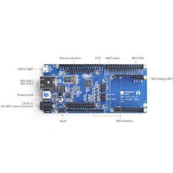 برد UNO Dock دارای پردانزده مرکزی ATmega328 سازگار با NanoPi NEO / Air / NEO2 و شیلدهای آردوینو