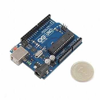 برد آردوینو Uno R3 دارای پردازنده مرکزی ATmega328P