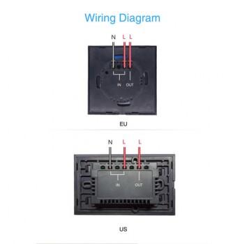کلید برق لمسی 1 پل Sonoff با قابلیت کنترل وایفای - محصول Itead
