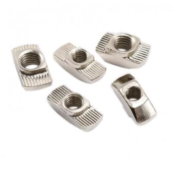 بسته 5 تایی مهره تی مناسب برای اتصال پروفیل های آلومینیومی مهندسی مدل M5-30