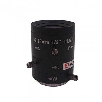 لنز دوربین با قابلیت تنظیم فاصله کانونی 6mm الی 12mm