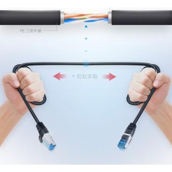 کابل شبکه پچ کورد Cat6 دارای طول 1 متر محصول Columbu ( مشکی )
