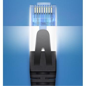 کابل شبکه پچ کورد Cat6 دارای طول 2 متر محصول Columbu ( مشکی )