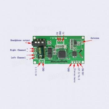 ماژول گیرنده رادیو موج FM دارای نمایشگر ، کلید کنترلی ، خروجی هدفون و ارتباط I2C