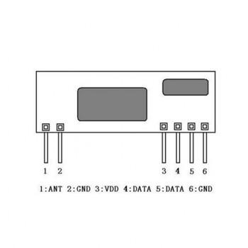 ماژول گیرنده وایرلس RXB35 دارای فرکانس 433Mhz