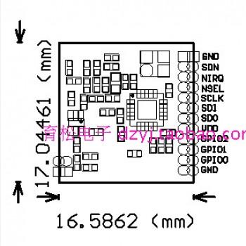 ماژول ترنسیور وایرلس XL4432 دارای چیپ SI4432 و فرکانس 433MHz