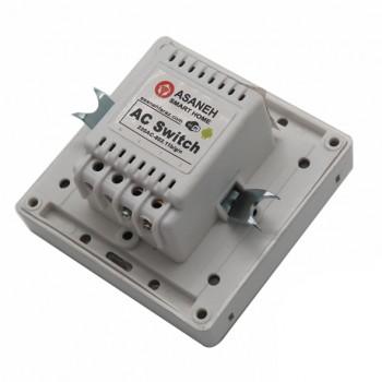 کلید برق لمسی 2 پل با قابلیت کنترل وایفای