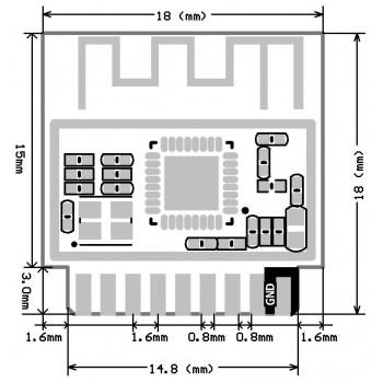 ماژول وایفای ESP-01M دارای هسته وایفای ESP8266