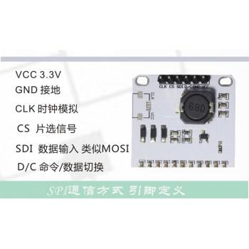 ماژول نمایشگر E-Eink دارای اندازه 1.54 اینچ ، چیپ درایور IL3829 و ارتباط SPI