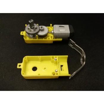 موتور DC گیربکس دار 1:120 دارای شافت تمام فلزی فلت