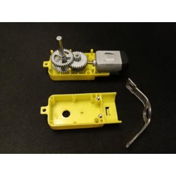 موتور DC گیربکس دار 1:120 دارای شافت تمام فلزی گرد