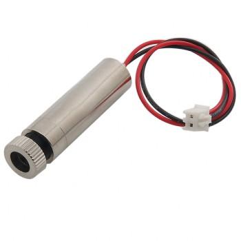 ماژول لیزر قرمز نقطه ای 650nm 250mW دارای کیس فلزی و قابلیت تنظیم نور