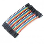 بسته 20 تایی سیم bread board مادگی به مادگی 15 سانتی متری ( Dupont Wire )