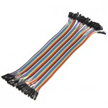 بسته 20 تایی سیم bread board مادگی به مادگی 20 سانتی متری ( Dupont Wire )
