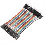 بسته 20 تایی سیم bread board نری به مادگی 15 سانتی متری ( Dupont Wire )