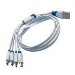 کابل انتقال دیتا و شارژر 100 سانتی متری دارای چهار پورت میکرو USB