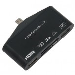 تبدیل MHL به HDMI دارای OTG مناسب برای انواع گوشی و تبلت