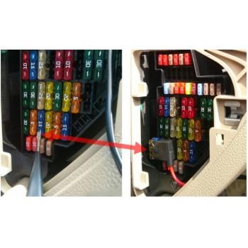 کیت رابط خروجی برق ویژه جعبه فیوز خودرو دارای دوفیوز 5A و 10A