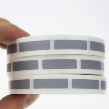 بسته 1000 تایی پوشاننده ( اسکرچر ) 8mmX40mm مناسب برای محافظت سریال نامبر ، کداکتیو و ...