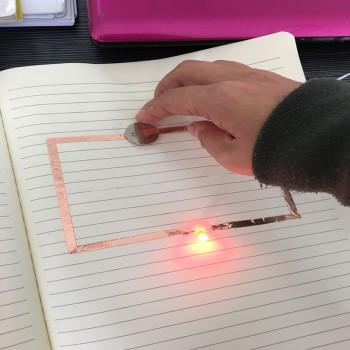 نوار چسب رسانا عرض 5mm ساخته شده از مس - مقاوم در برابر حرارت