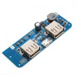 ماژول شارژر / دشارژر باتری لیتیومی دارای دو خروجی 5V 1A / 2A USB مناسب برای ساخت پاور بانک