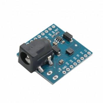 شیلد پاور برد WeMos D1 Mini دارای ورودی ولتاژ 24V-7V