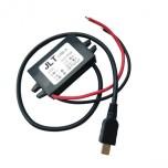 رگولاتور DC به DC کاهنده دارای خروجی مینی 3A 5V USB و دامنه ولتاژ ورودی 8V إلی 22V