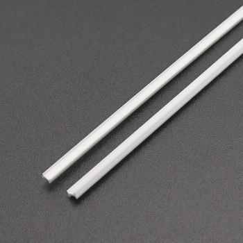 پروفیل ABS ریلی دارای ابعاد 2.5mmX1.5mm مناسب برای ساخت سازه های رباتیک