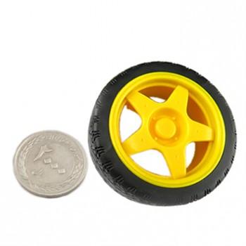 چرخ ( تایر ) 68 میلی متری پلاستیکی مناسب برای ساخت ربات