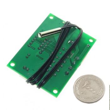 ماژول ترموستات دیجیتال XH-W1219 دارای نمایشگر و کلیدهای کنترلی