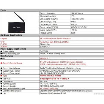 تی وی باکس MX9 PRO Mini دارای 1GB RAM و Android 7.1