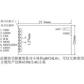 ماژول رادیو وایرلس CC1101 - فرکانس 433M 10mW با برد 500 متر