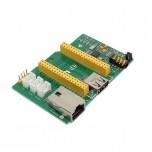 برد توسعه LinkIt Smart 7688 دارای سوکت RJ45 و جک هدفون