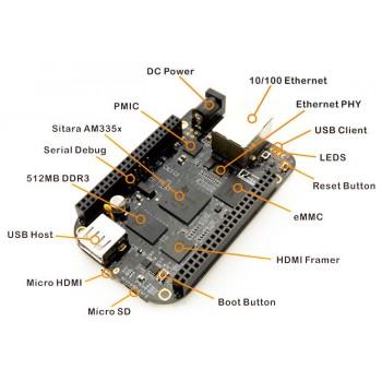 برد بیگل بن بلک 4GB حافظه -  Beaglebone Black BB-Black Rev C