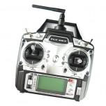 رادیو کنترل فلای اسکای 6 کاناله همراه با LED و رسیور FlySky FS-T6+R6B