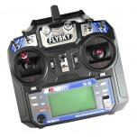 رادیو کنترل فلای اسکای 6 کاناله همراه با LED و رسیور FlySky FS-i6+iA6(M2)