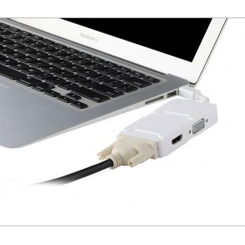 مبدل مینی دی پی Mini DP به HDMI / VGA / DVI ویژه اپل مک بوک ، سرفیس و ...