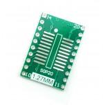 برد دو لایه تبدیل SMD به DIP ویژه آی سی های SOP20/TSSOP16/MSOP16