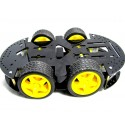 شاسی ربات 4 موتوره به همراه موتور گیربکس دار 1:120 و چرخ