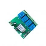 ماژول رله 4 کاناله با قابلیت کنترل وایفای و تغذیه میکرو USB مناسب برای ساخت درب هوشمند