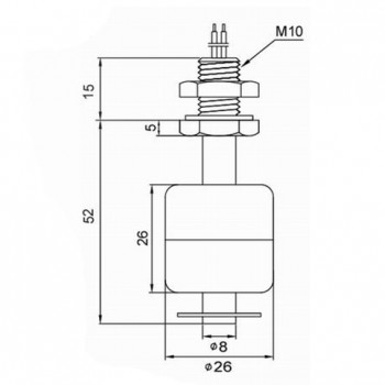 سنسور تعیین سطح مایع - سوئیچ شناور p52
