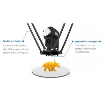 کیت مینی پرینتر سه بعدی رومیزی Pylon دارای تکنولوژی FDM و دقت 0.1mm ( رنگ نارنجی )