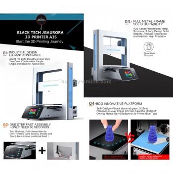 کیت پرینتر سه بعدی A3S دارای سرعت 80mm/s محصول AURORA