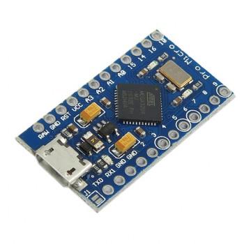 برد آردوینو Pro Micro دارای پردازنده مرکزی ATmega32u4