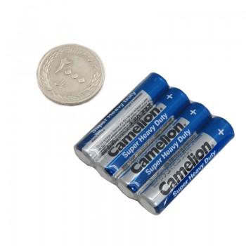 بسته 4 تایی باتری نیم قلمی کملیون مدل Super Heavy Duty