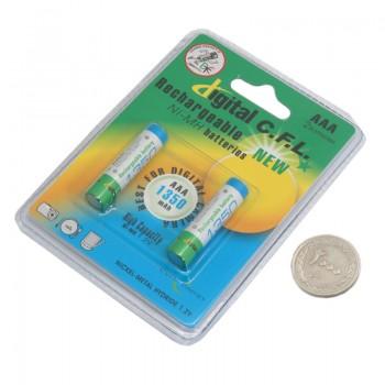 بسته 2 تایی باتری نیم قلم قابل شارژ 1350mAh