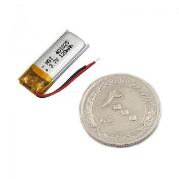 باتری لیتیومی 3.7V 120mAh دارای برد محافظ