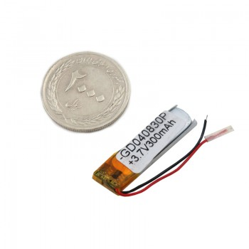 باتری لیتیومی تک سل 3.7V 300mAh دارای برد محافظ